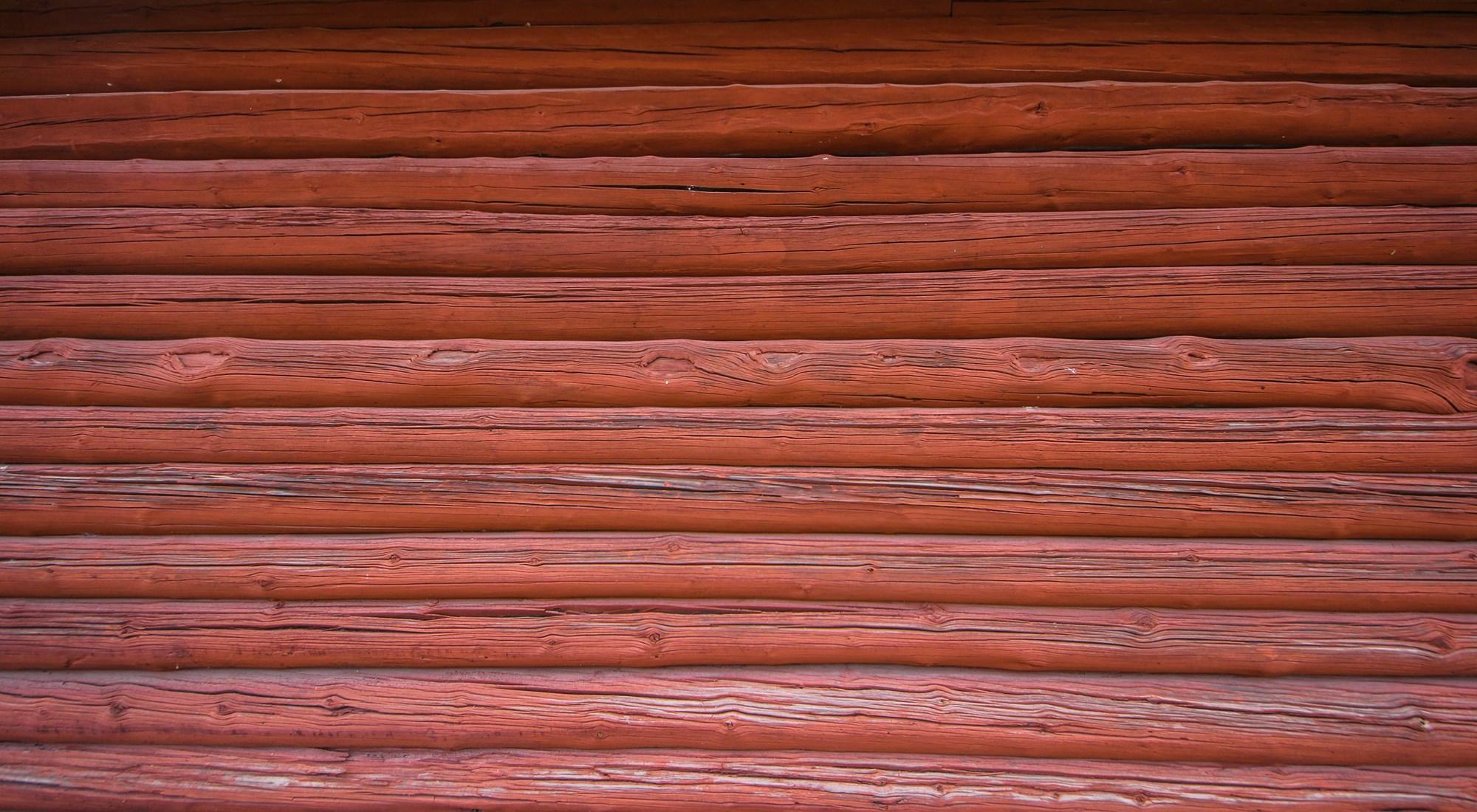 falu rödfärg vägg