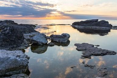 stenar hav kväll